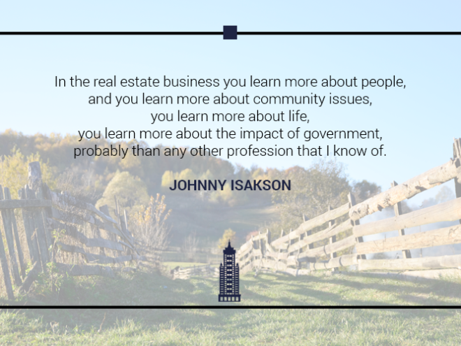 Australian Property Education Property Investment Quotes Johnny Isakson 3