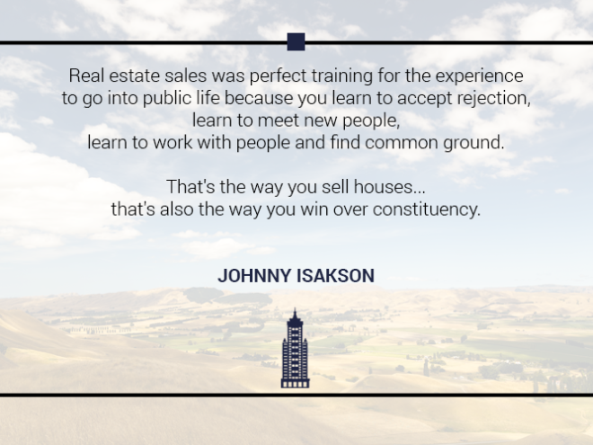 Australian Property Education Property Investment Quotes Johnny Isakson