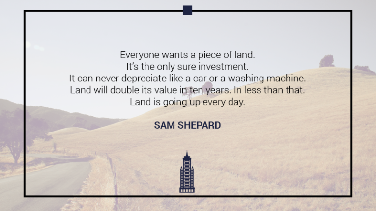 Australian Property Education Property Investment Quotes Sam Shepard